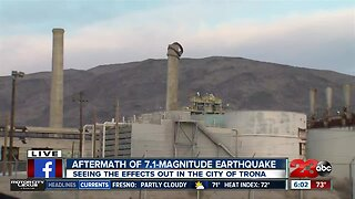 Trona recovering from multiples earthquakes in the Ridgecrest area
