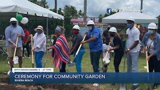 Groundbreaking ceremony held for community garden in Riviera Beach
