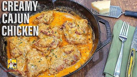 Creamy Cajun Chicken Recipe