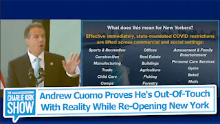 Andrew Cuomo Proves He's Out-Of-Touch With Reality While Re-Opening New York