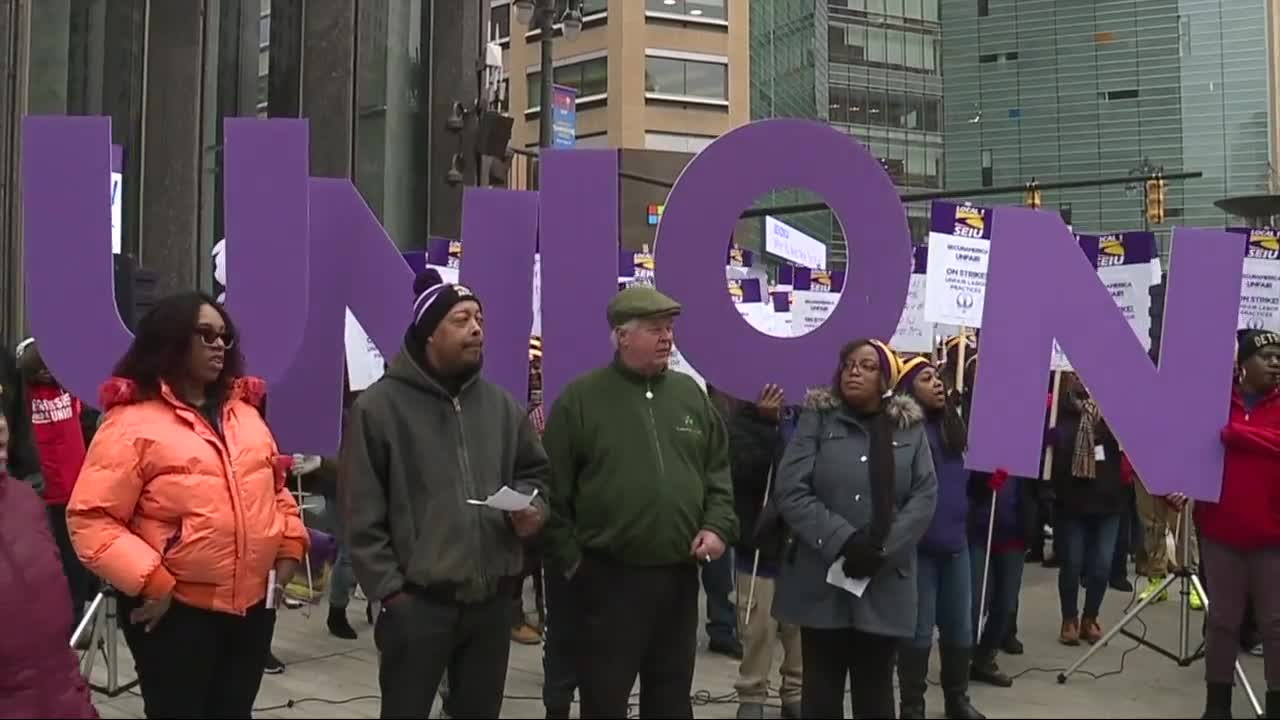 Downtown security guards walk off over unfair labor practices