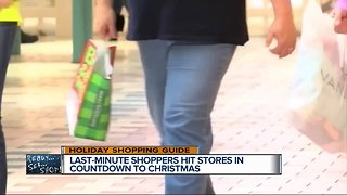 Last-minute shoppers hit stores in countdown to Christmas