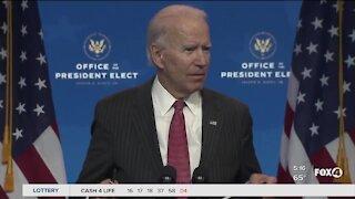 President Elect Joe Biden will not close down economy