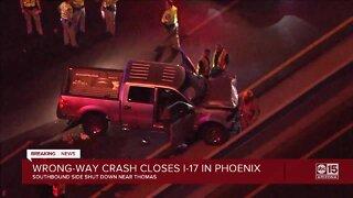 Wrong-way crash closes I-17 in Phoenix