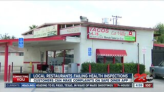 Local restaurants failing health inspections