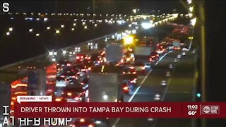 FHP: Driver thrown into Tampa Bay after multi-vehicle crash on Howard Frankland Bridge