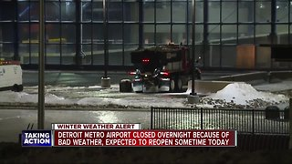 Detroit Metro Airport closed overnight due to bad weather