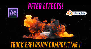 Blender 3d Explosion compositing: After Effects walkthrough