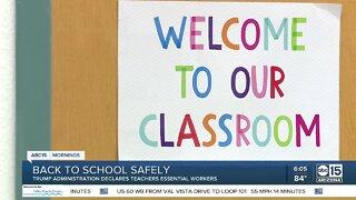 Trump administration declares teachers essential workers