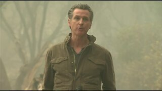 Governor Gavin Newsom tours wildfire damage