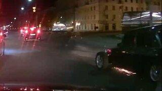 Tire falls off moving car