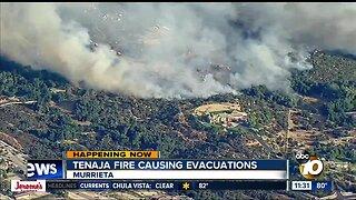 Tenaja Fire causing evacuations
