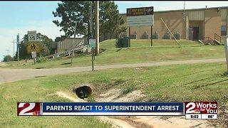 Parents react to superintendent arrest