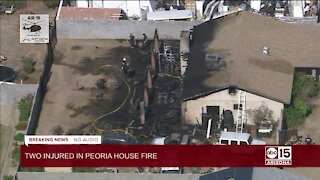 Two injured in Peoria house fire Tuesday