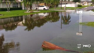 Pools overflowing and fish swimming in driveways: How severe flooding is affecting one Cape Coral neighborhood
