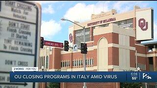 OU Closing Programs In Italy Amid Virus