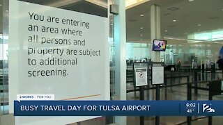 Busy Travel Day Ahead of Tulsa Airport