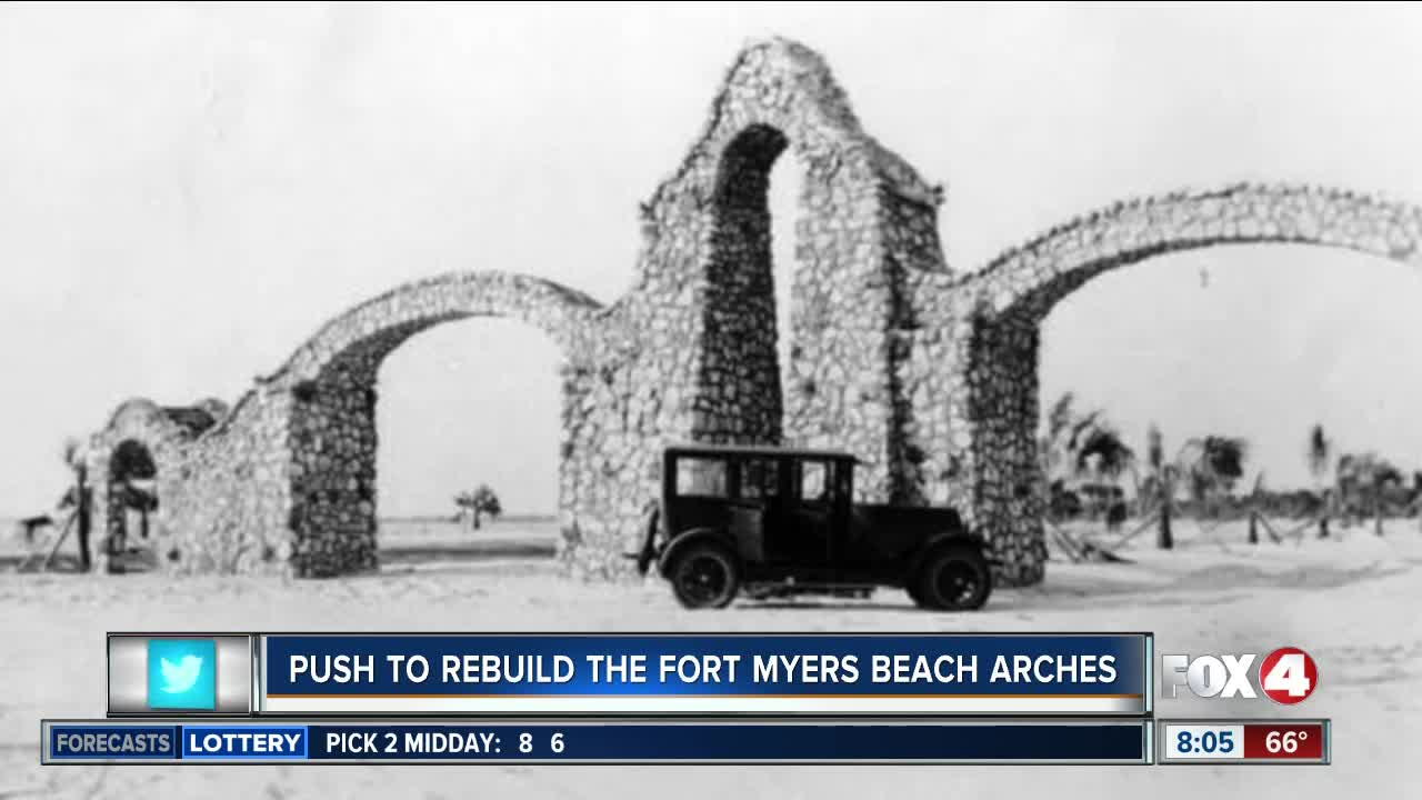 Fort Myers Beach arches on the agenda at county commissioner's meeting
