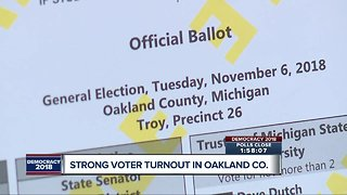 Strong voter turnout in Oakland County