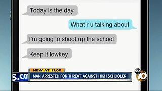 Man arrested for threatening La Jolla High School student