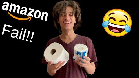 Amazon Fail!! They Sent Me Mini Toilet Paper lol!