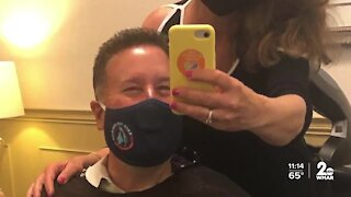 Hair stylist helps WMAR-2 News anchor Jamie Costello face skin cancer