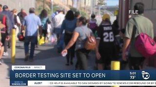 New coronavirus testing side opening along U.S./Mexico border