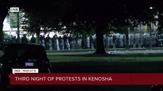 Police clear Civic Center Park of protesters Tuesday night