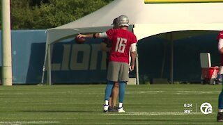 Lions hold first training camp practice under Dan Campbell