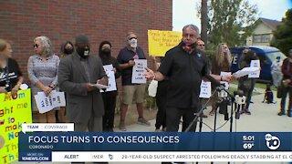 Rally calls for consequences after Coronado tortilla incident