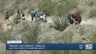 Phoenix man using videos to bring awareness to polluted trailheads