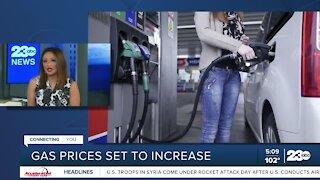 Gas prices set to increase