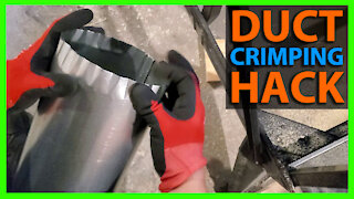 Crimping Round Duct With No Crimper