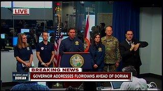Press Conference: Gov. Ron DeSantis gives updates on Dorian preparations in Florida -- 10am Monday