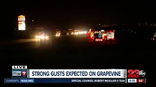 Grapevine seeing high winds as storm rolls through Kern County