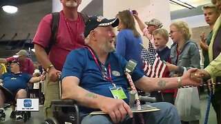 Veterans welcomed home after honor flight
