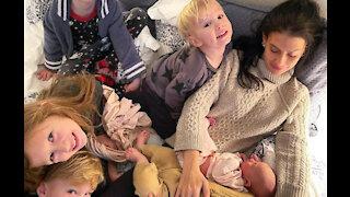 Hilaria Baldwin welcomes sixth child