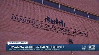 Tracking unemployment benefits