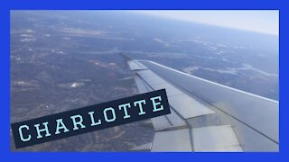Sunny afternoon takeoff from Charlotte, North Carolina on an A321