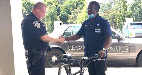 Police Officer Gives Stranger Bike