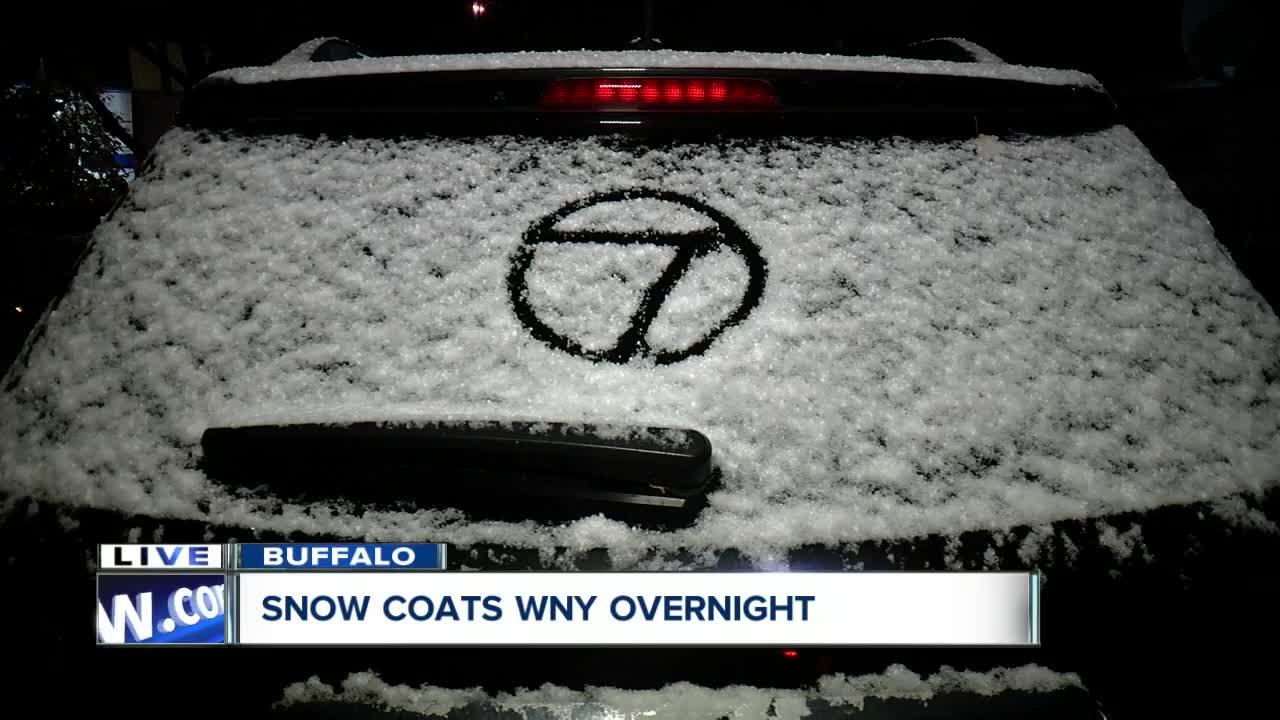 Snow coats Western New York overnight