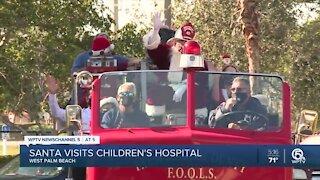 Santa Claus visits kids at Palm Beach Children's Hospital