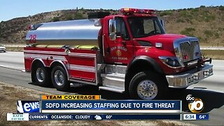 San Diego Fire Department increases staff levels amid potential fire danger