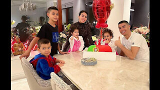 Cristiano Ronaldo marked his 36th birthday with an adorable family photo