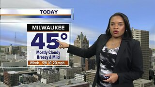 Milwaukee weather Thursday: Mostly cloudy, breezy, and mild