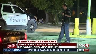 Police investigating scene in Fort Myers