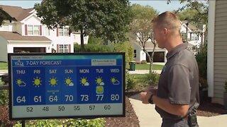 Cooler temperatures set Thursday through Saturday