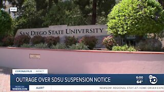 SDSU parents outraged over possible student suspensions for COVID-19 violations
