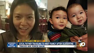 Local father hours away from reuniting with family after quarantine