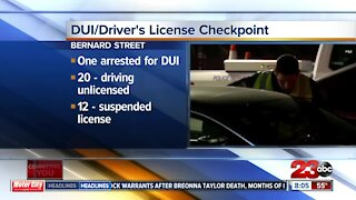 DUI/Driver's License Checkpoint results